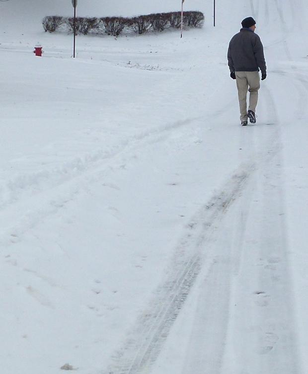 My older brother J.R. walking in the neighborhood I grew up in.