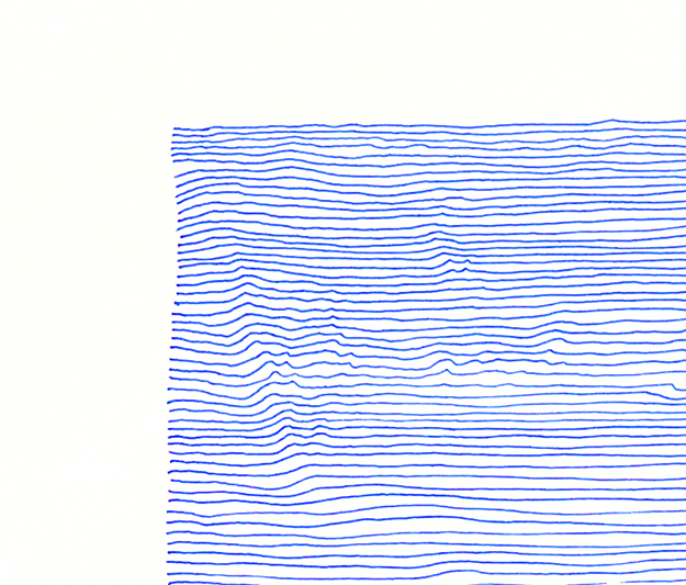 Blue Is the mind in borrow #2 (detail)