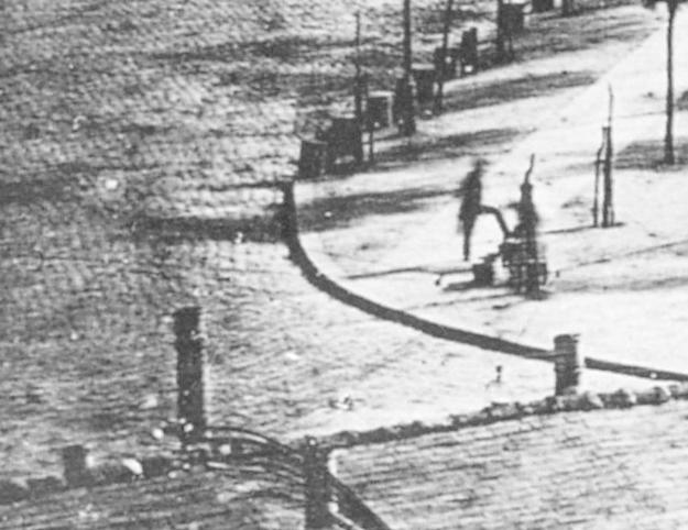 Louis Daguerre Boulevard Du Temple, 1838 (Detail)