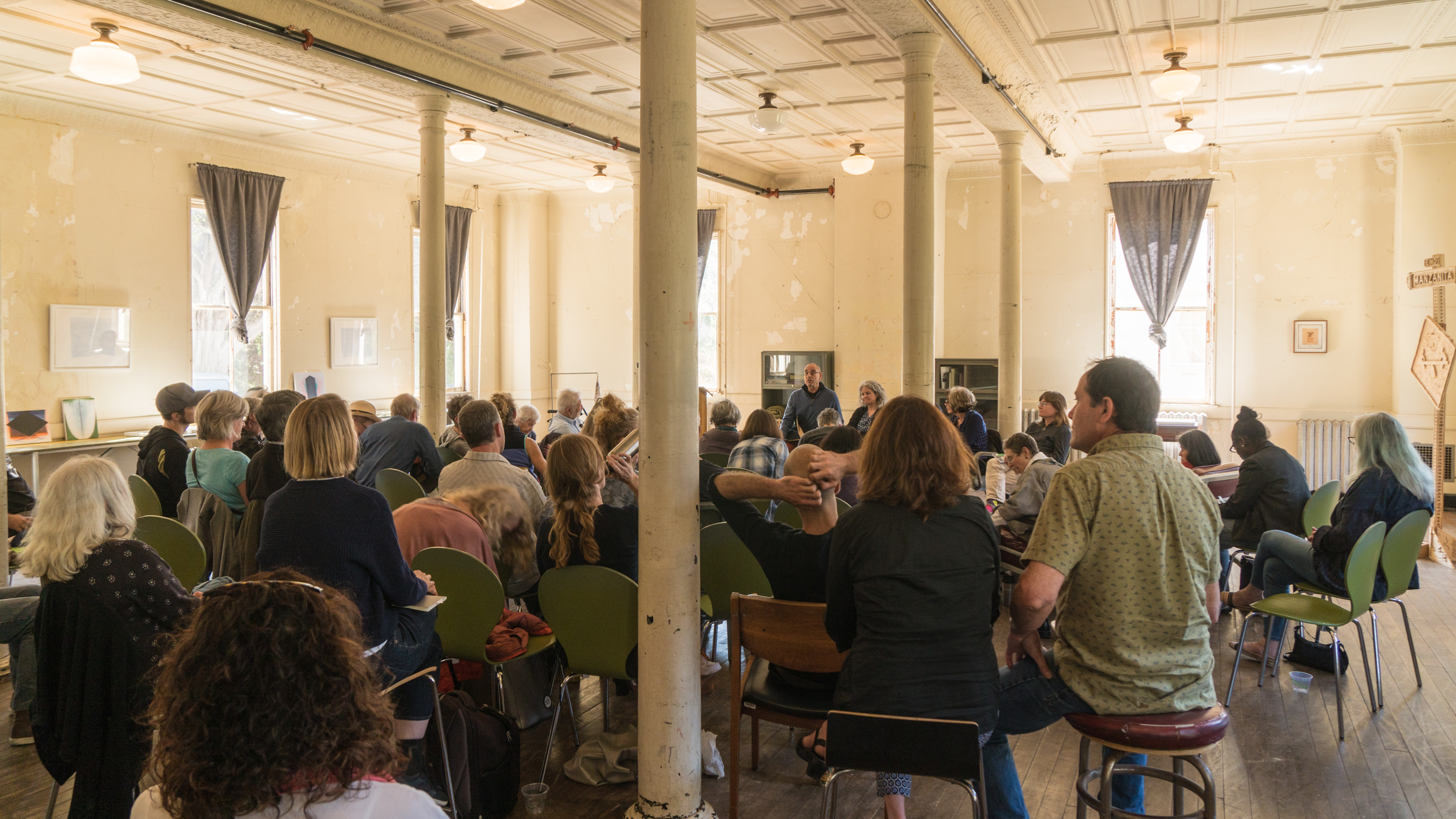 A group gathered at the Headlands Center for the Arts on Memorial Day weekend to discuss the theme of Art and Spiritual Practice. (photo courtesy of Steve Stern)