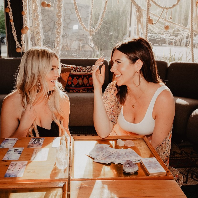 Designated Accountability partner - Each month are teamed up with a new spiritual BFF to bond, connect, and stay accountable to the work + rituals