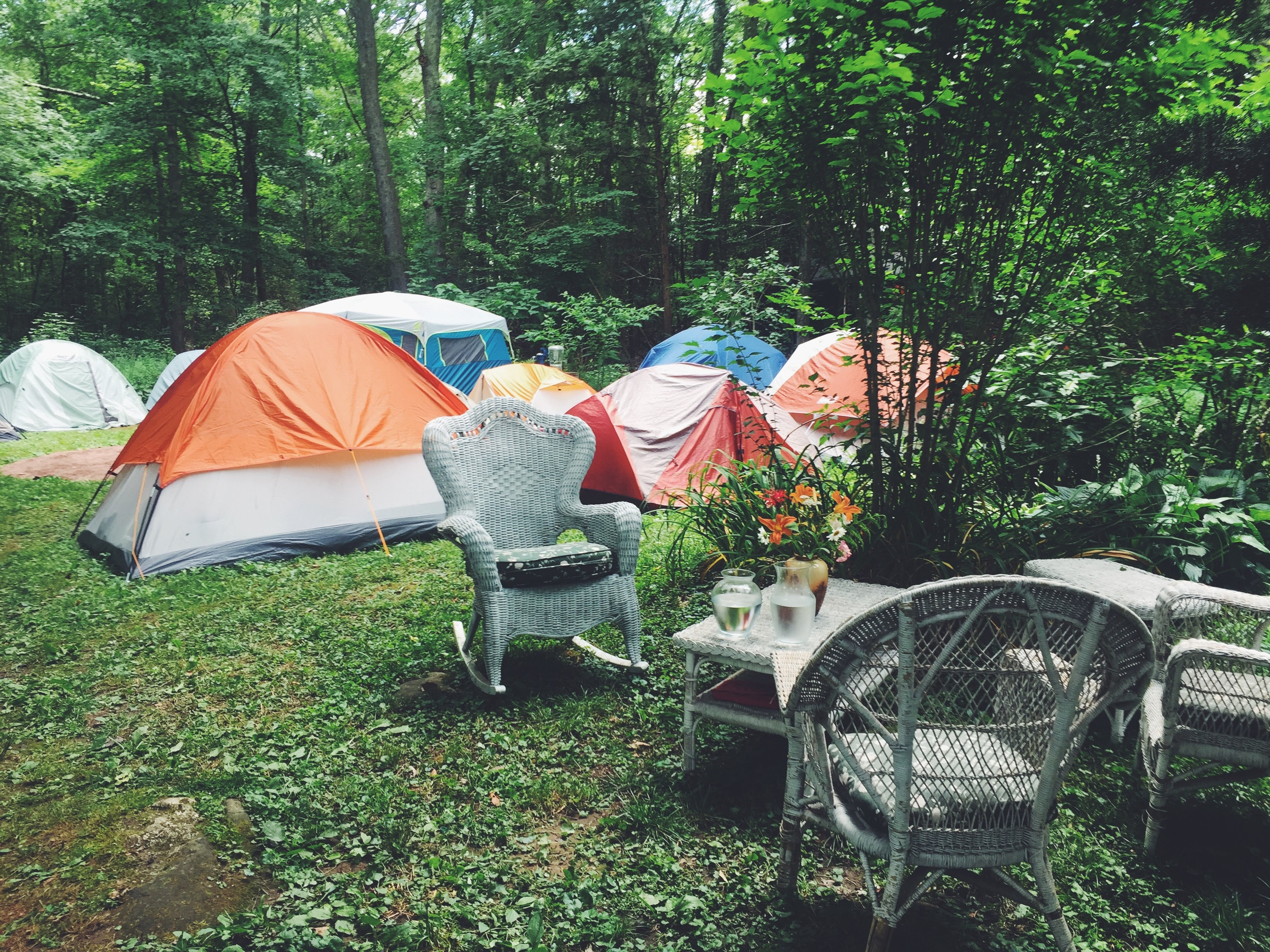 The residents' tents
