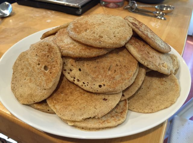 But first, more pancakes. This batch was better than the first batch.