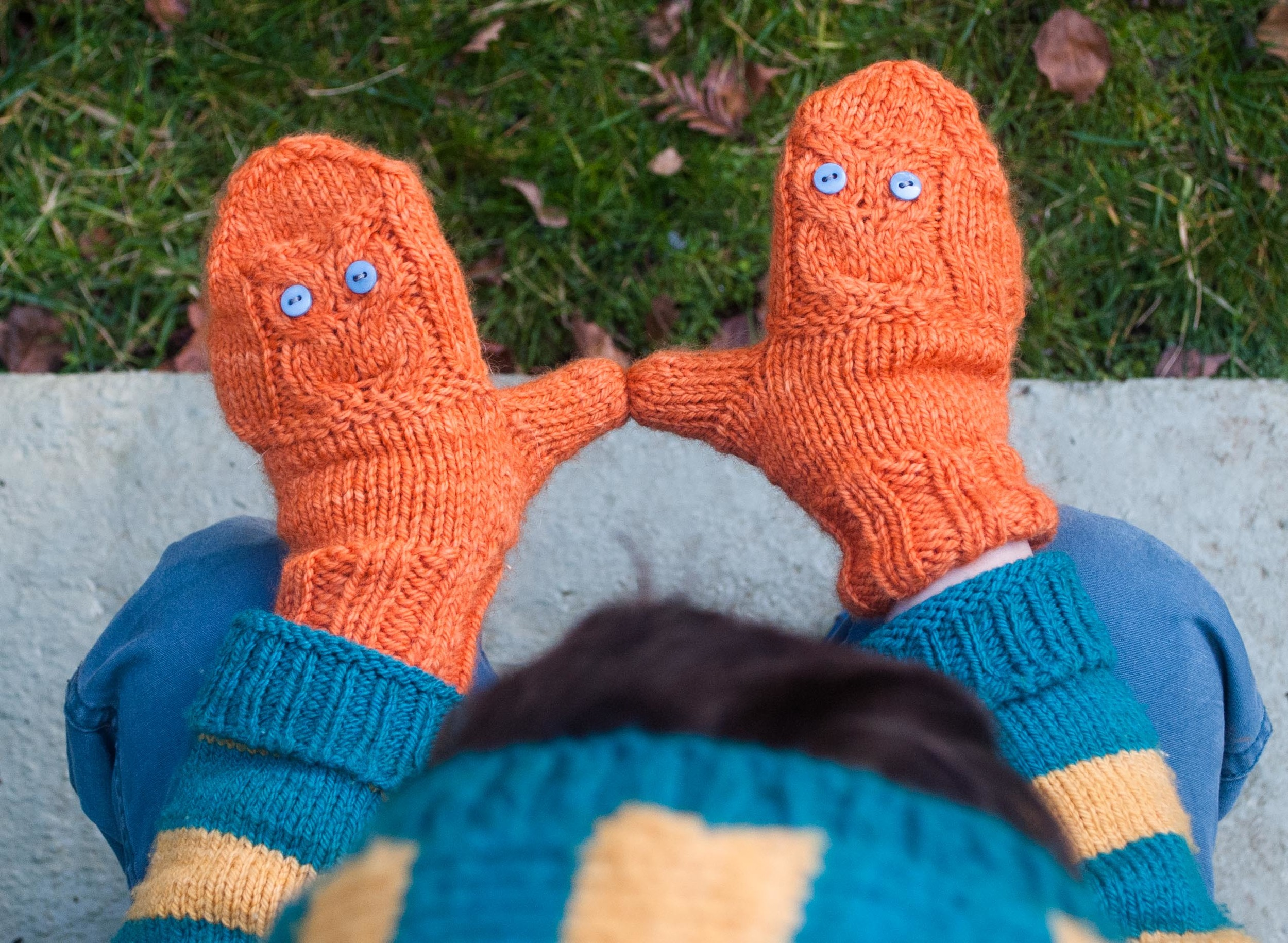 Pop-Up Owl Mittens