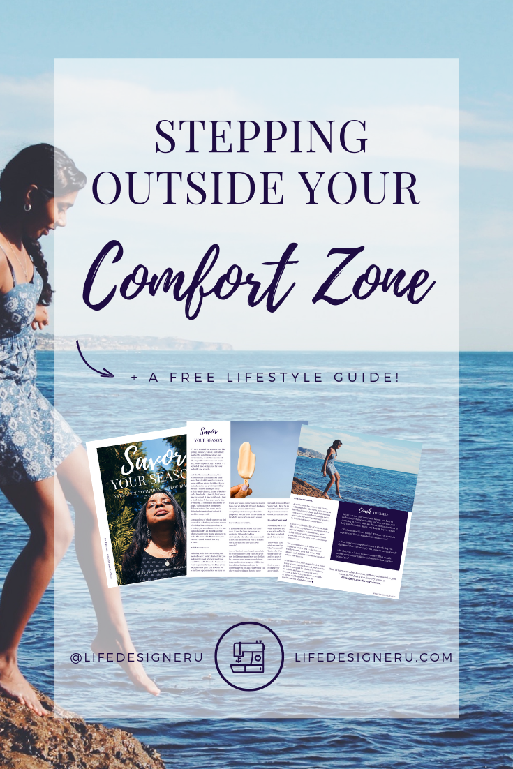 Stepping Outside Your Comfort Zone   Life Designer University  -- Are you struggling to step outside of your comfort zone? Nothing grows there. In order to live a life of purpose and by design you're going to have to get comfortable with being uncomfortable. Learn 3 tips for stepping outside of your comfort zone in this video.  Read and watch now or pin to save for later.   personal growth tips , personal development tips, comfort zone, taking risks, lifestyle tips, christian women, christian life coach, christian life coach for women, Life Designer University, Janelle Alexandra