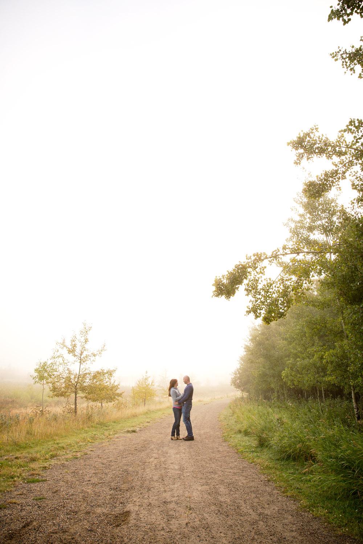 Couples Foggy Morning Adventure Anniversary Shoot
