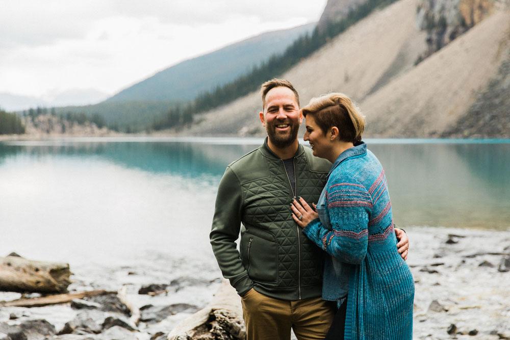 Morain Lake Mountain Anniversary Vacation Shoot