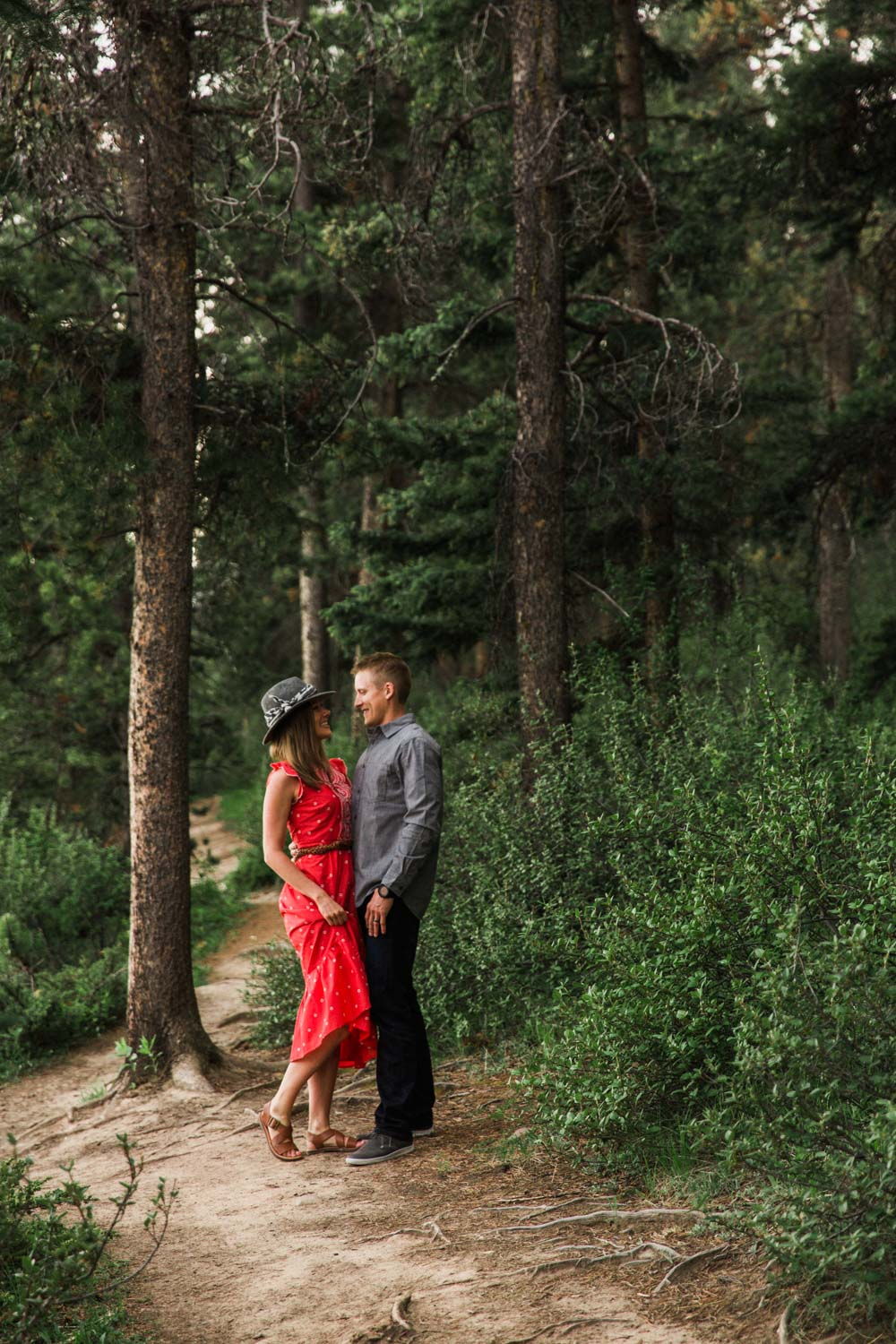 Vacation Anniversary Shoot in Banff, Canada.  Mountain Adventure Photos by Photographer Jennie Guenard