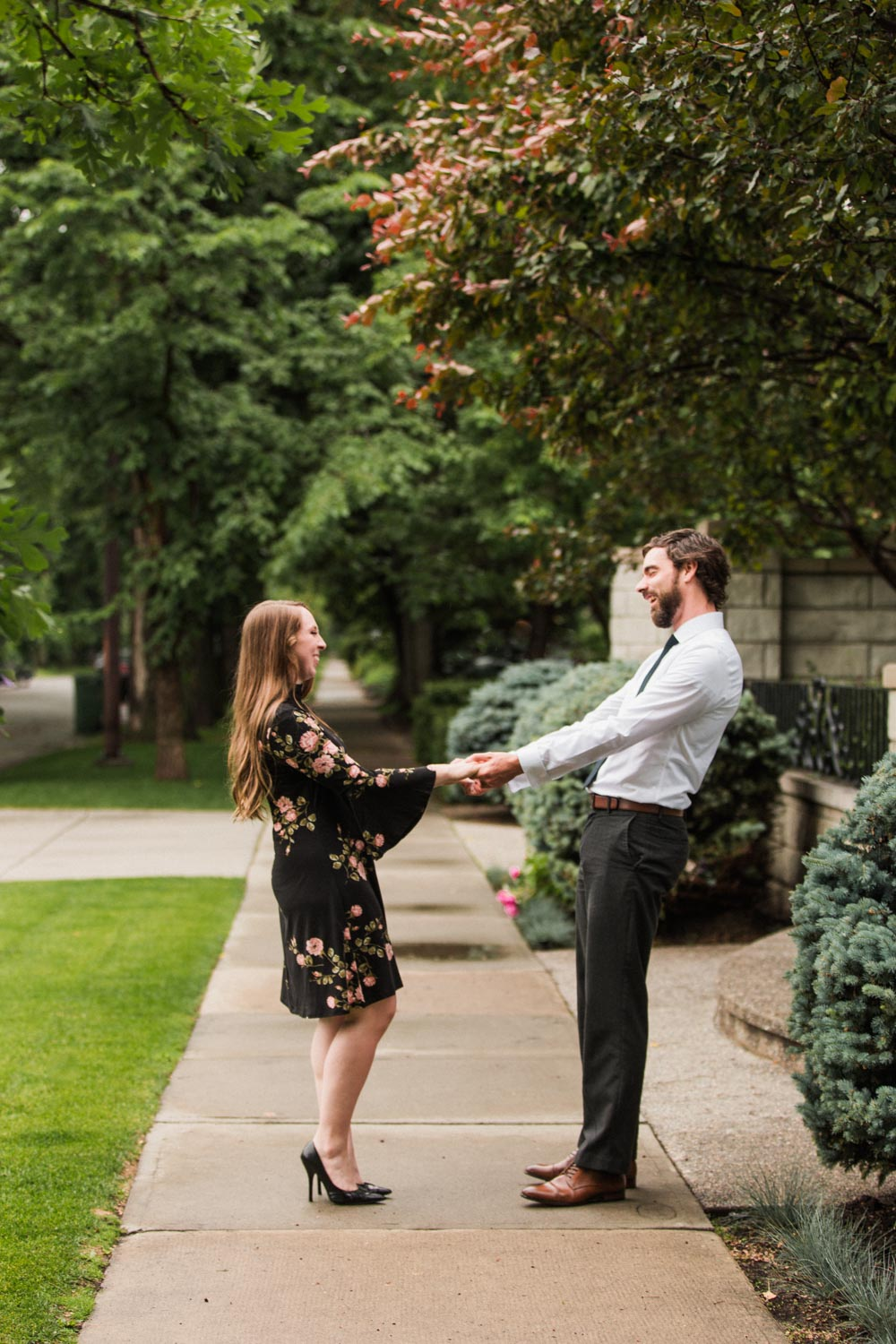Downtown Calgary Engagement Shoot Elbow Photographer Jennie Guenard Photography