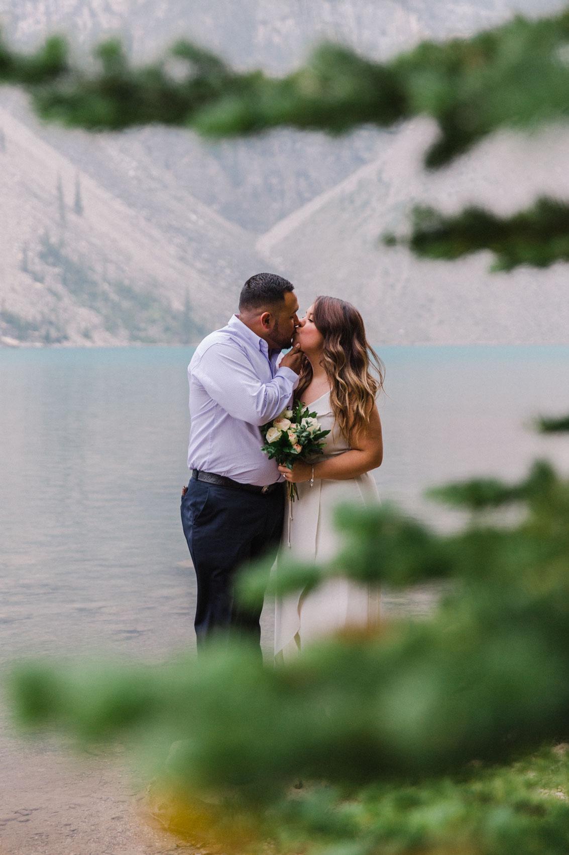 Lake Louise Mountain Engagement Photographer Moraine Lake Wedding Jennie Guenard Photography-7.jpg
