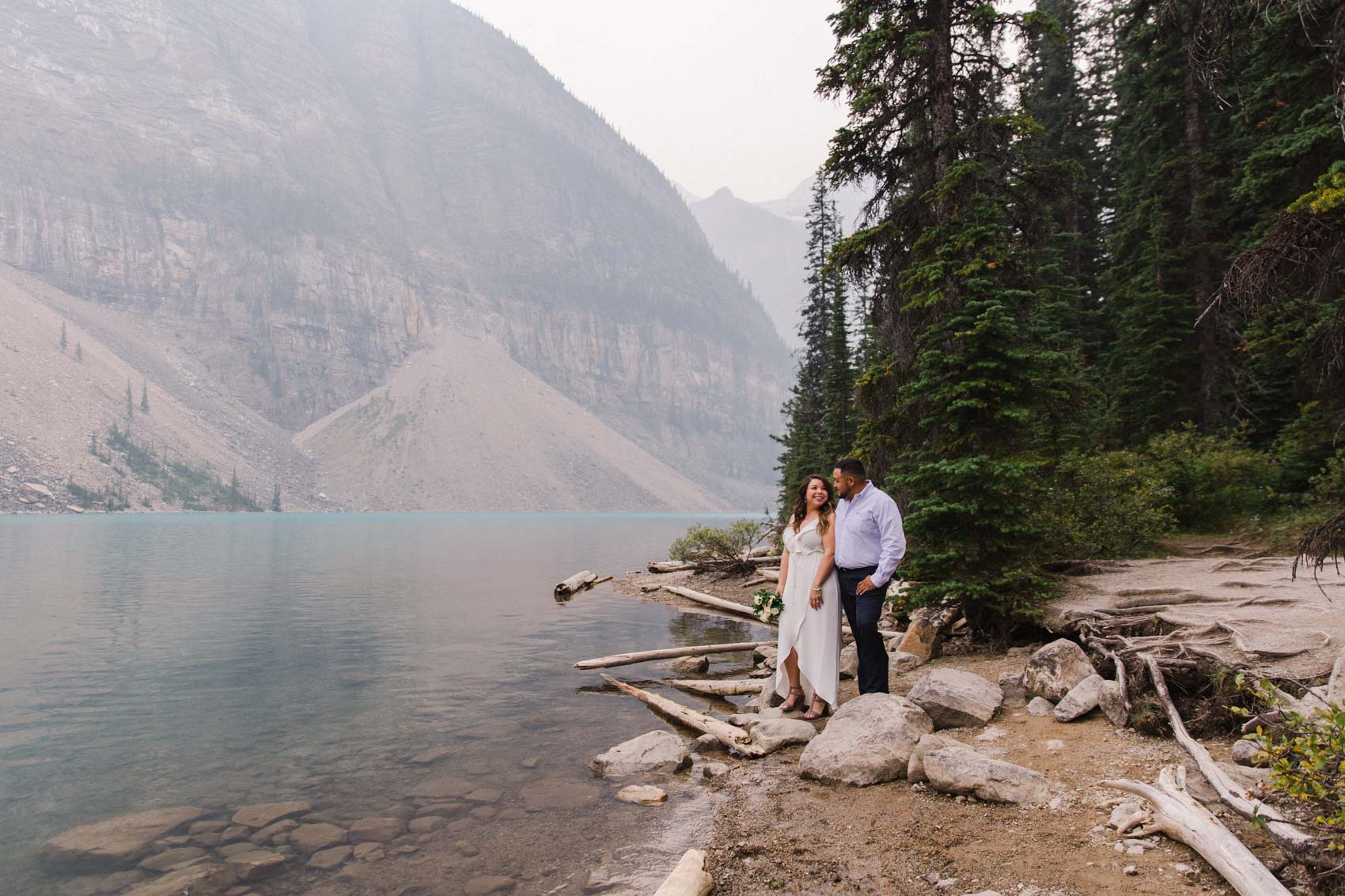 Lake Louise Mountain Engagement Photographer Moraine Lake Wedding Jennie Guenard Photography-2.jpg