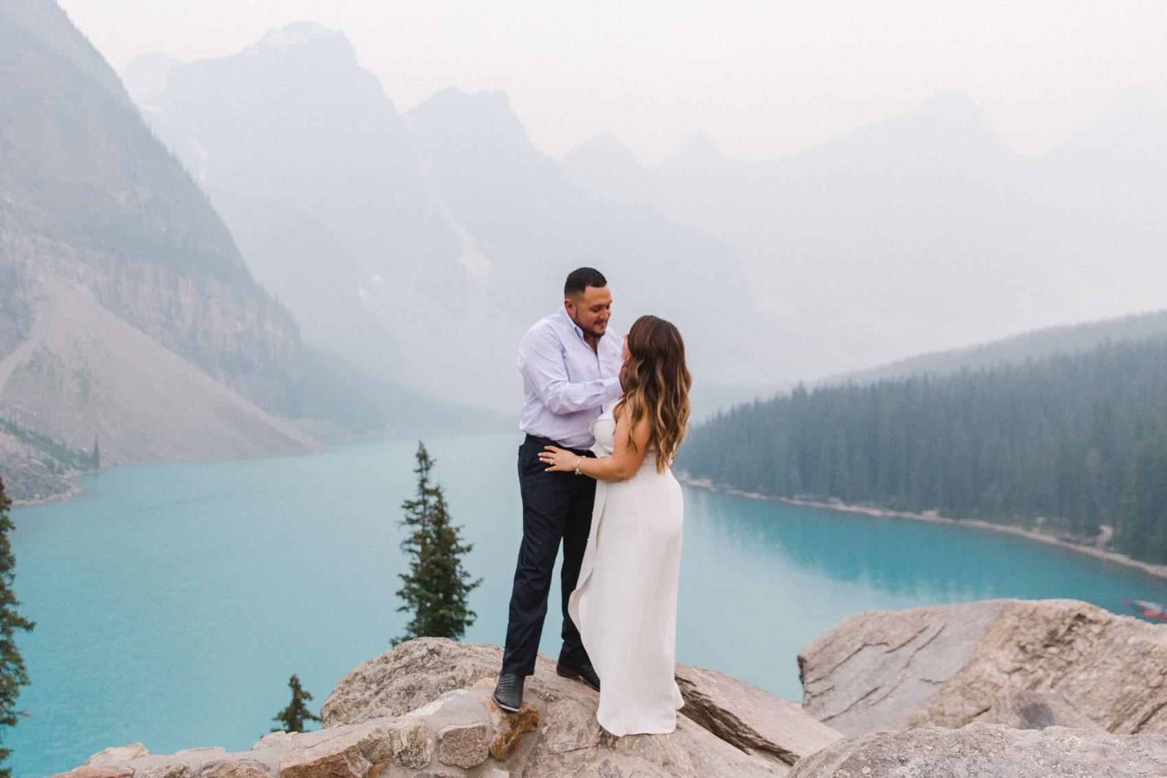 Lake Louise Mountain Engagement Photographer Moraine Lake Wedding Jennie Guenard Photography-23.jpg