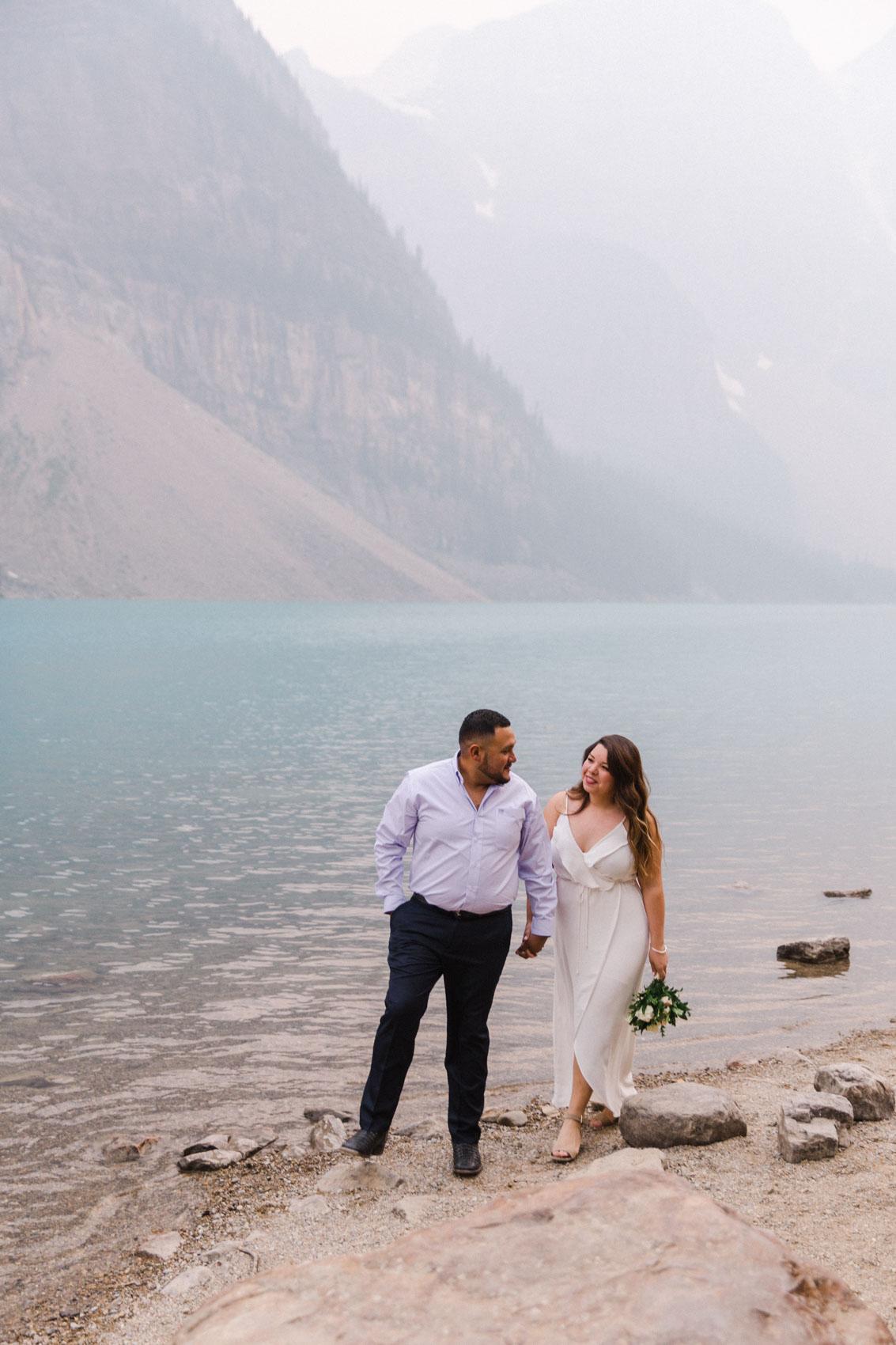 Lake Louise Mountain Engagement Photographer Moraine Lake Wedding Jennie Guenard Photography-17.jpg