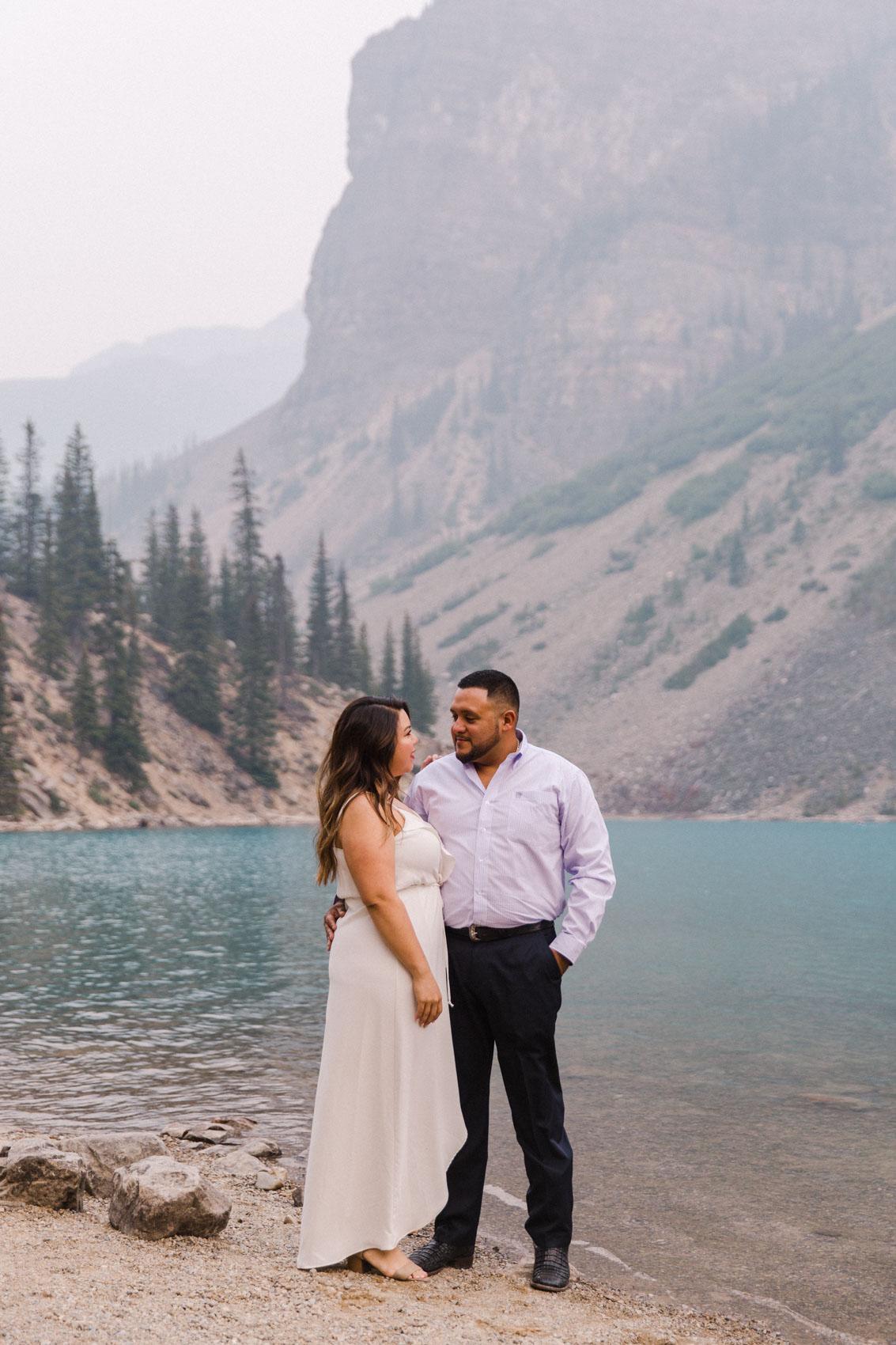 Lake Louise Mountain Engagement Photographer Moraine Lake Wedding Jennie Guenard Photography-18.jpg