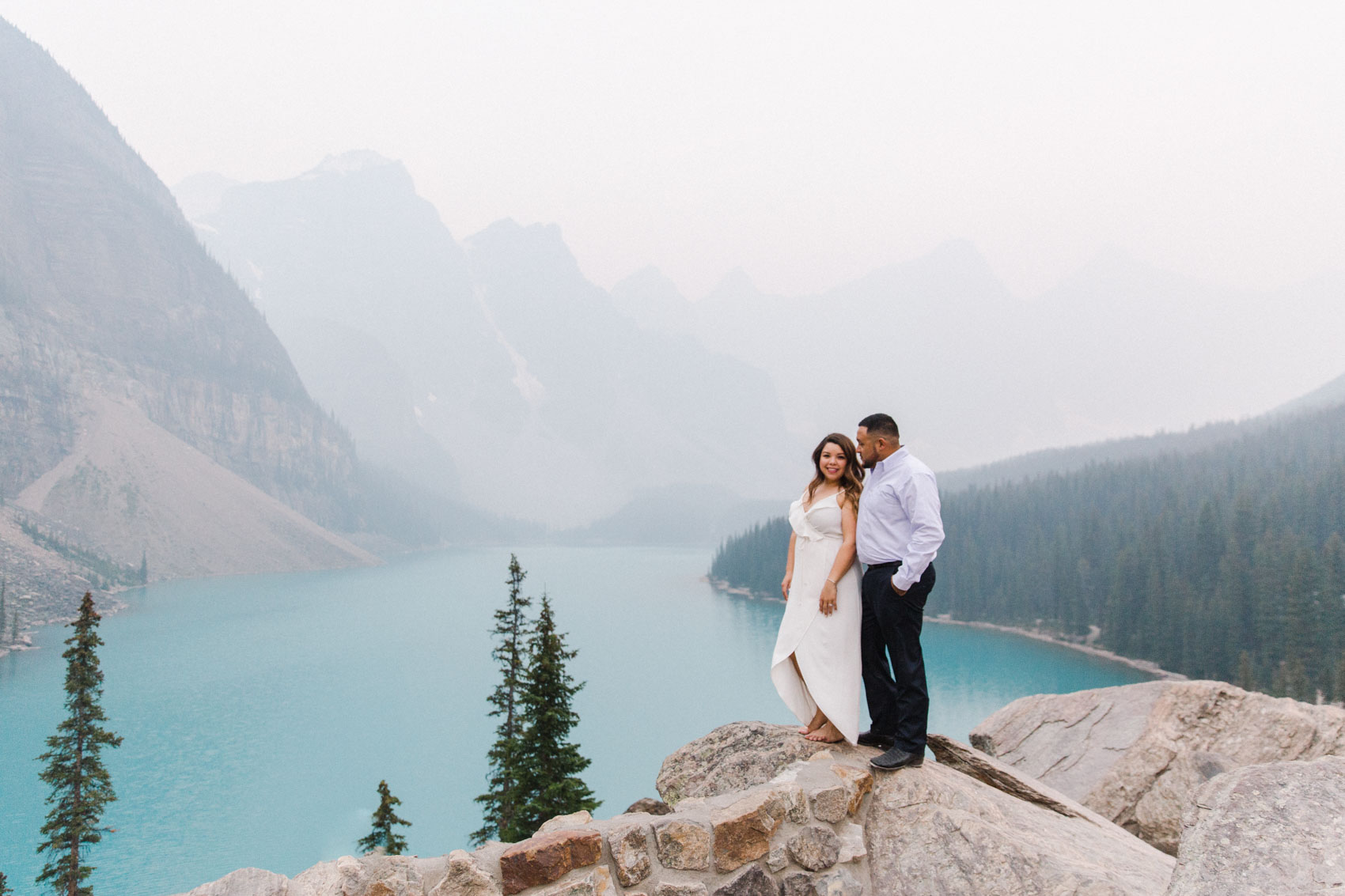 Lake Louise Mountain Engagement Photographer Moraine Lake Wedding Jennie Guenard Photography-25.jpg