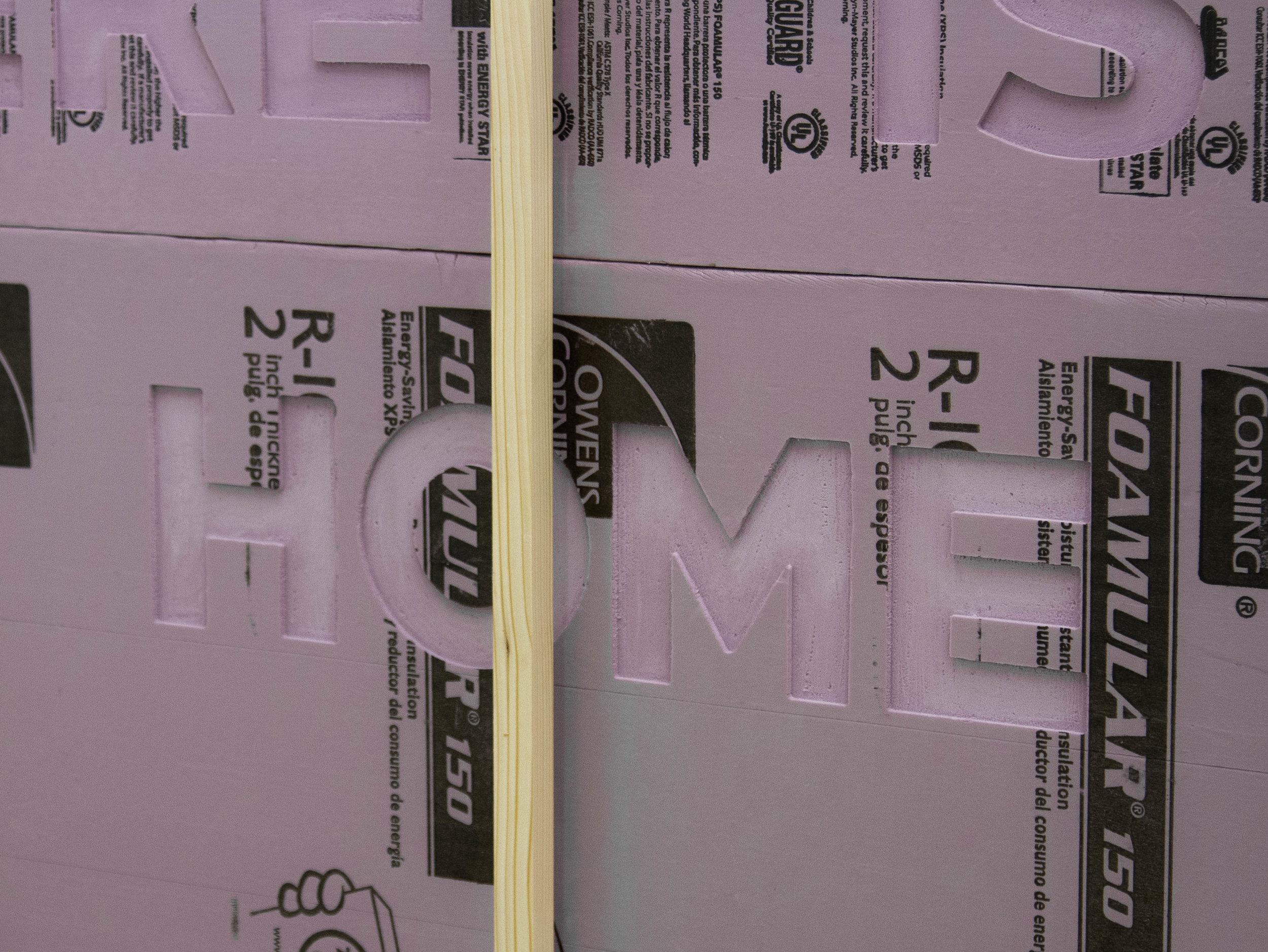 """8'x6'x4""""  pine, pink foam"""