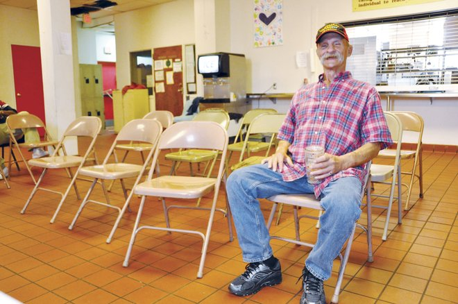 Doug Matmey, who has been consistently living at Firehouse Shelter for three months as of late April, calls the shelter a godsend. Matmey said he has found purpose in helping shelter staff and volunteers with everyday tasks, such as doing laundry and setting up chairs.