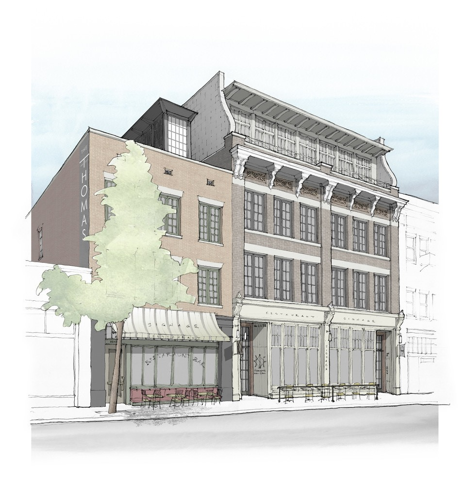 "The soon-to-be ""Thomas"" on Second Avenue will include luxury apartments, offices and street-level eateries. Image:  Nequette Architecture and Design"