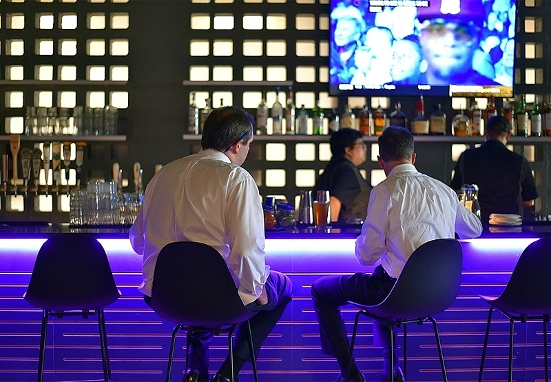 The goal of The Woolworth is to offer a laid-back space where locals can come after work or on the weekends to enjoy a drink, a meal, a game — or all three.