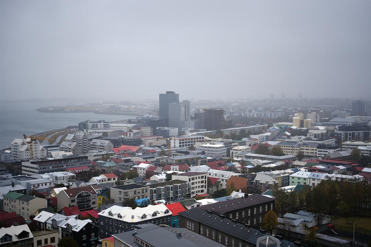 View from Hallgrimskirkja's belltower.