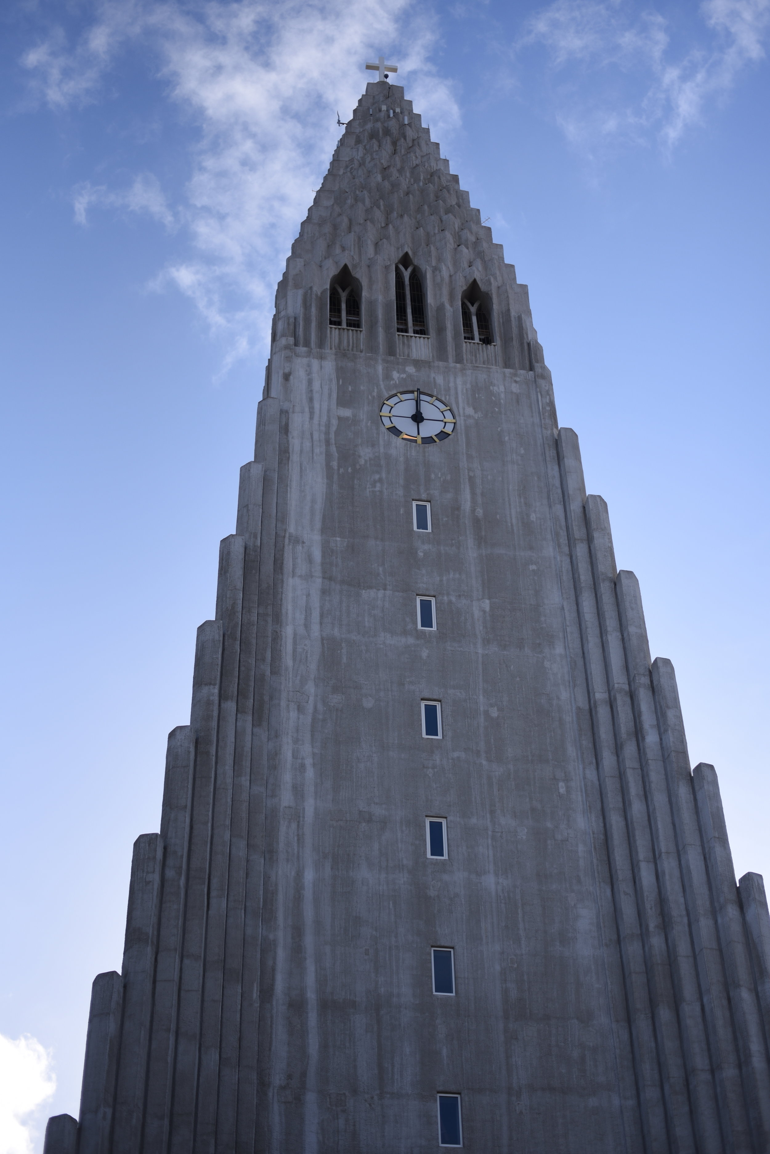 Hallgrímskirkja  (side note: this photo wasn't taken on the first day. Don't let those blue skies fool you!)