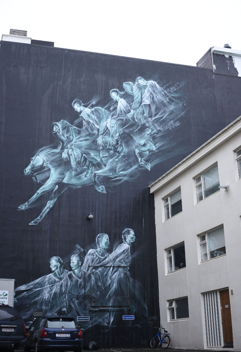 One of the many street murals in downtown Reykjavik.