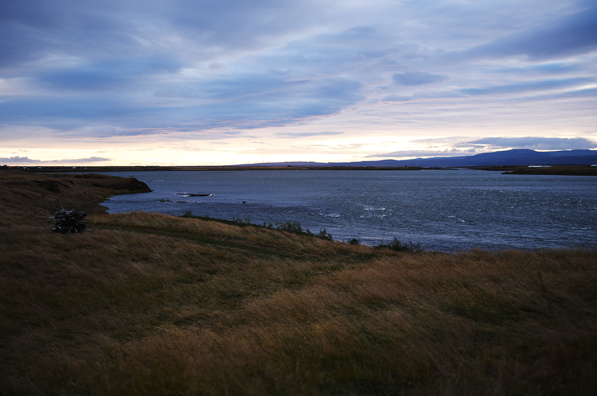 Sunset from Selfoss.
