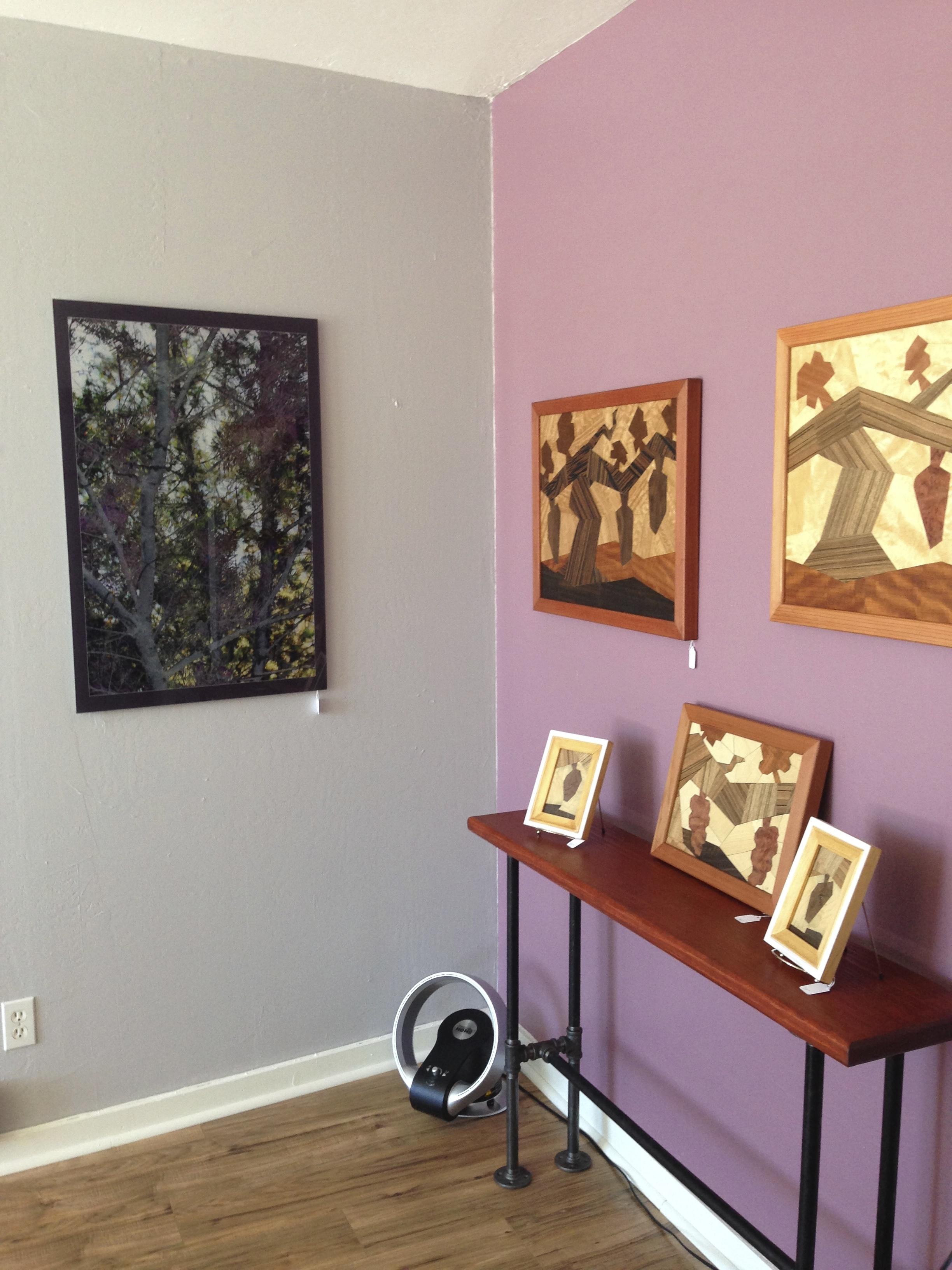 Grapevine Series - Wood Mosaics by Karen Cooprider