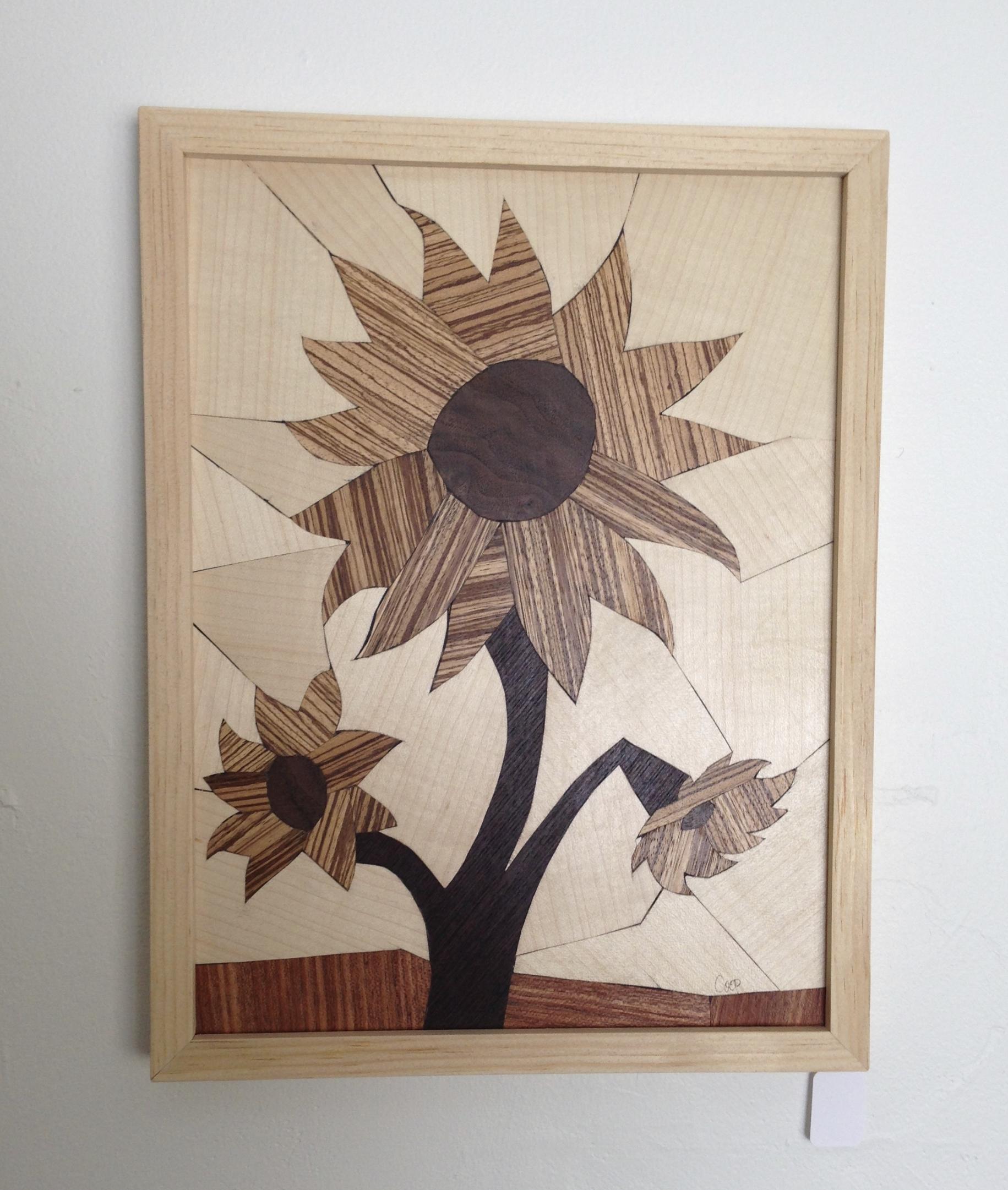Flower Series - Wood Mosaics - by Karen Cooprider