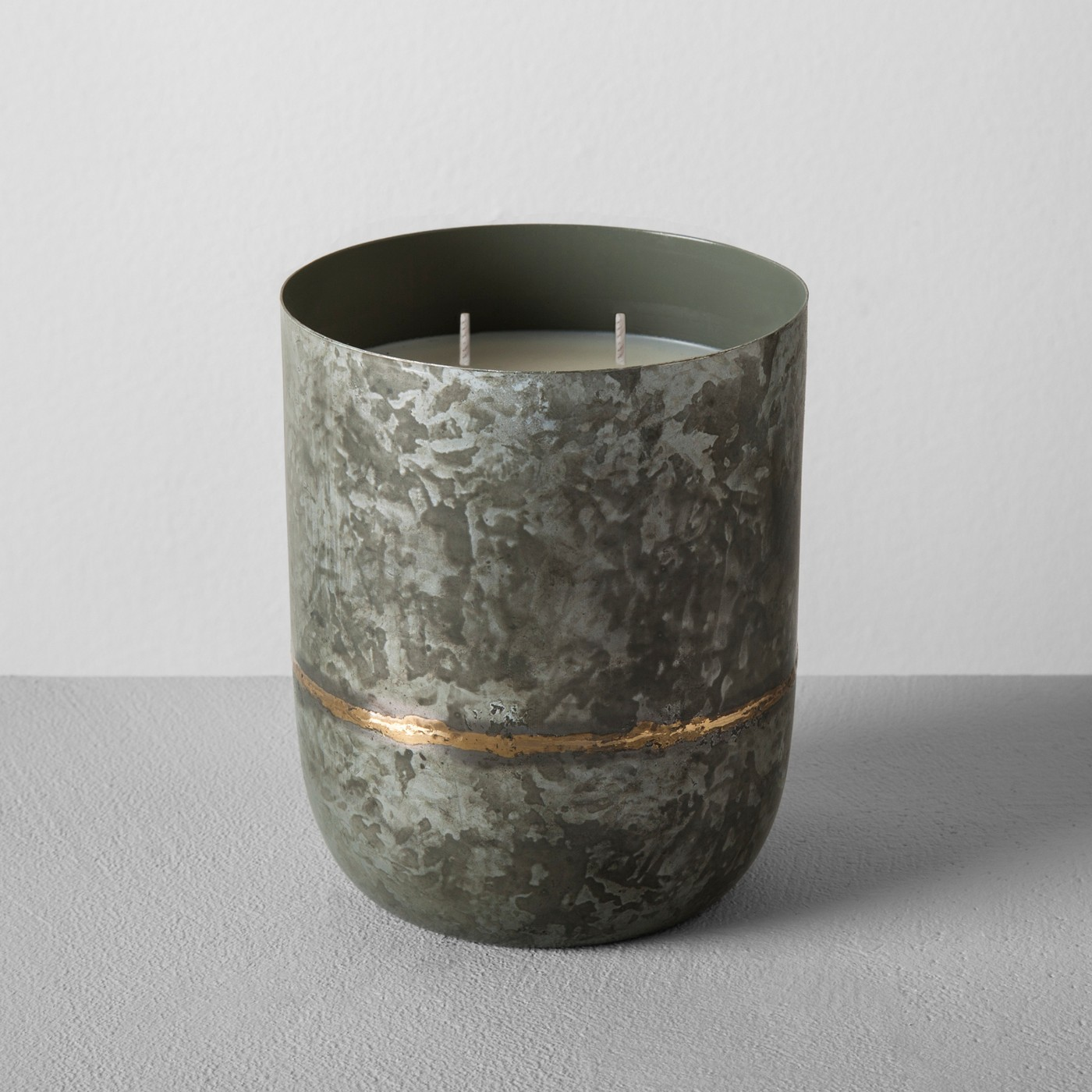 Galvanized Candle