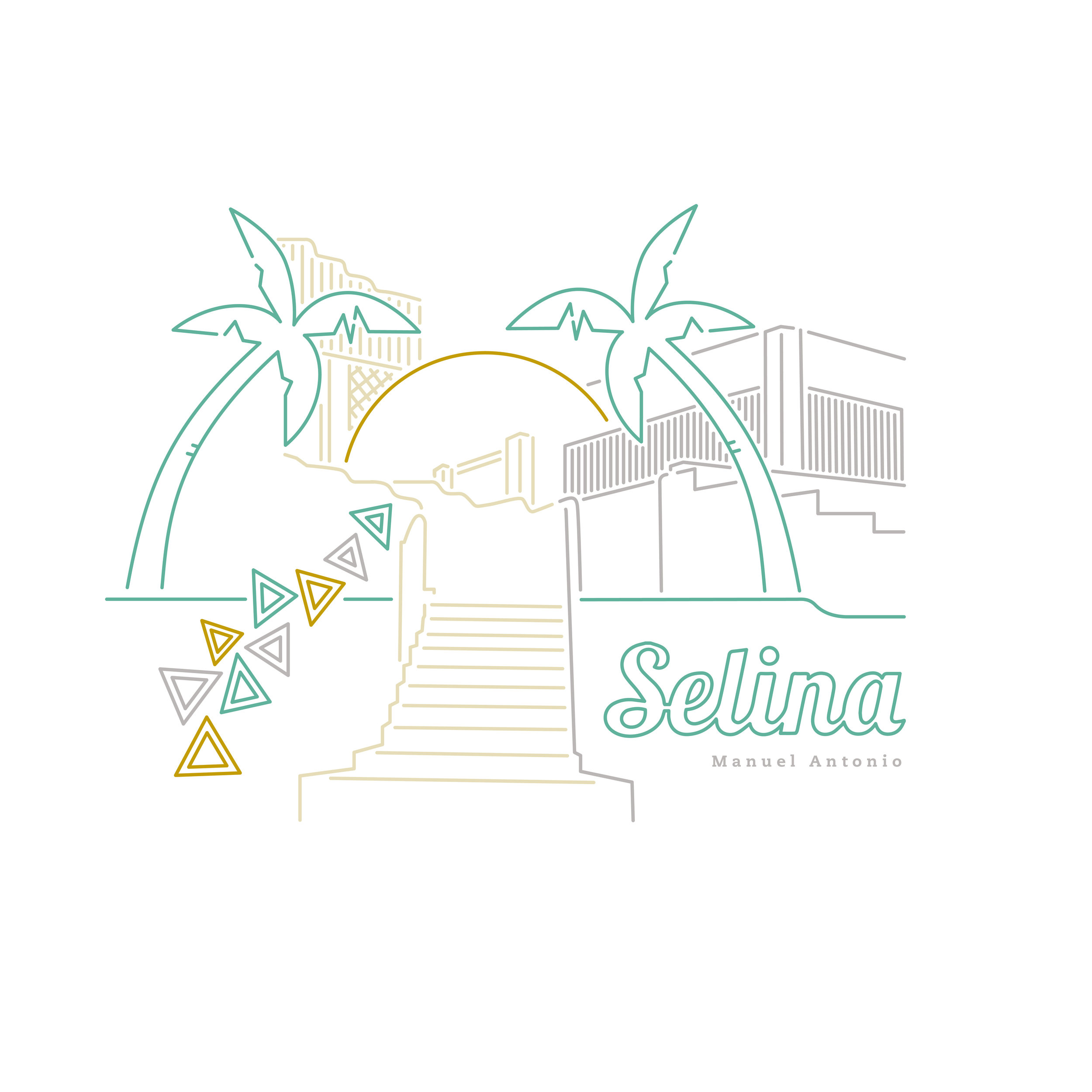 Selina Manuel Antonio Illustration