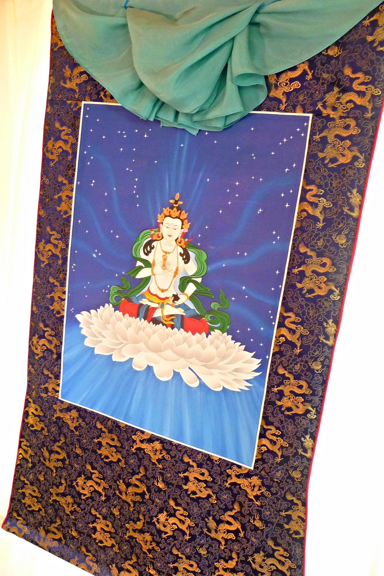 Brocade Frame for Vajrasattva Thangka