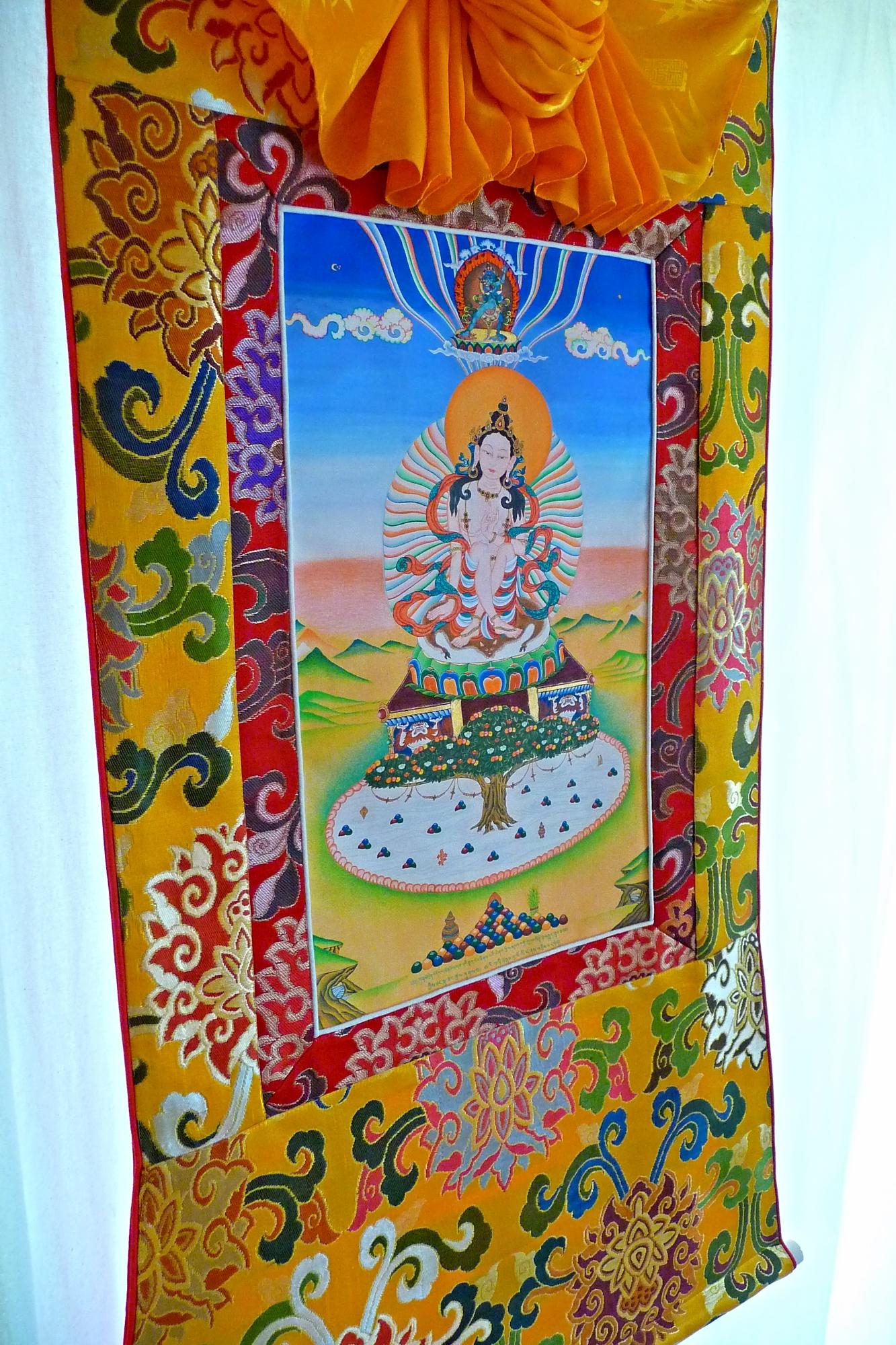 Tibetan Brocade Frame for Sukasiddhi Thangka