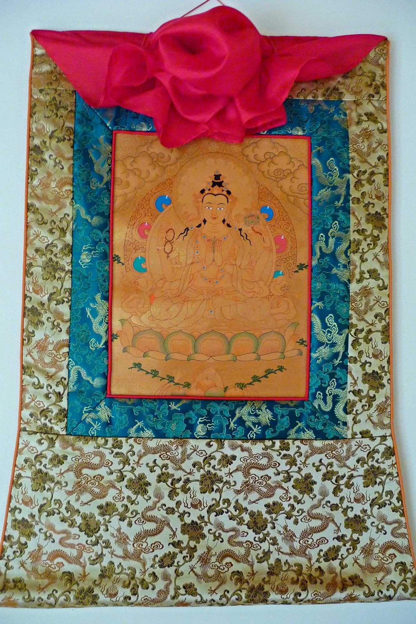 Brocade Frame for Small Chenrezig Thangka