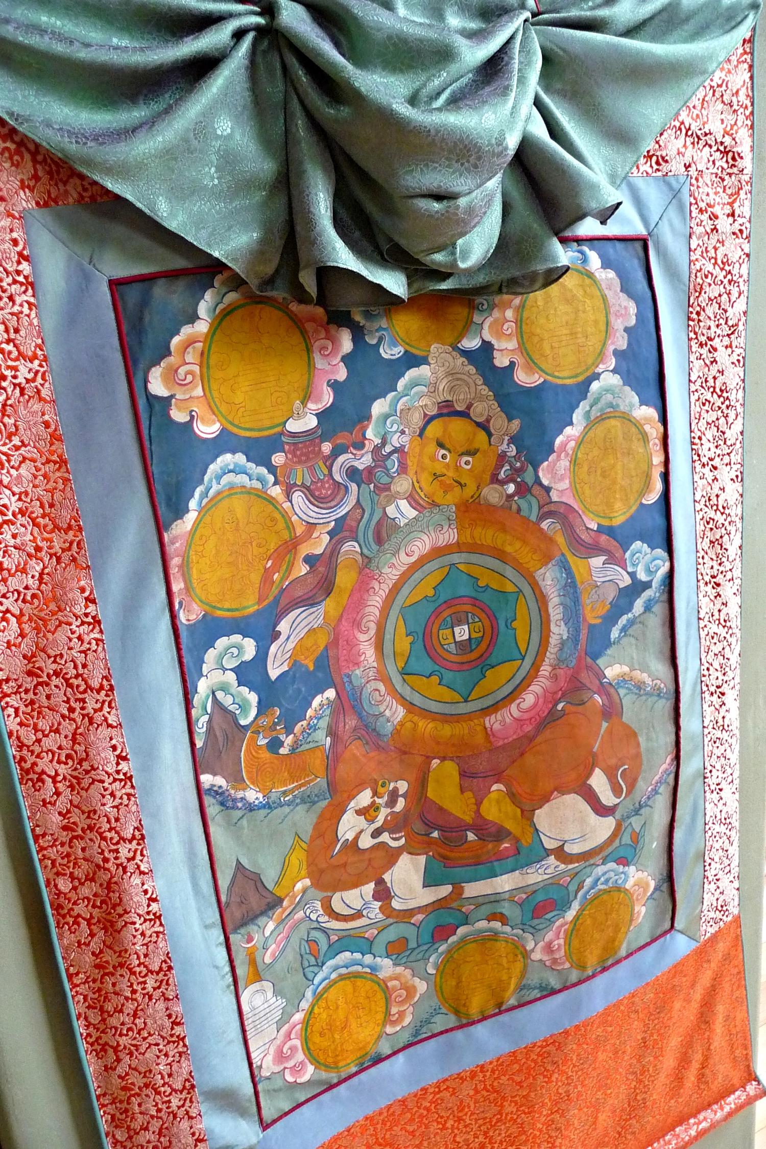 Brocade Frame for Dzambhala Thangka