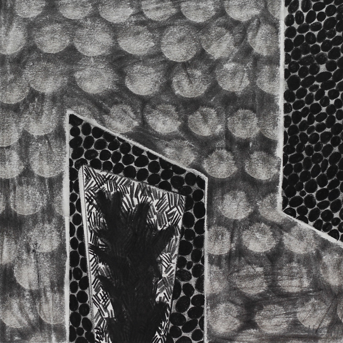 archive of an edge III, 2014 / charcoal on paper / 47cm x 47cm