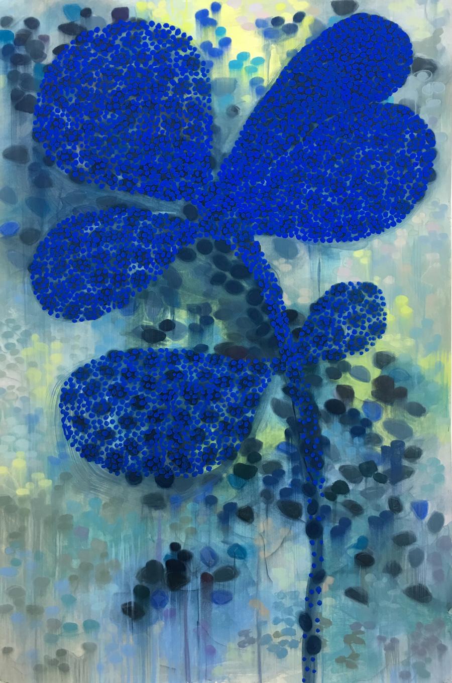 Foxfire Blue / Pastel on paper / 152cm x 102cm / 2018