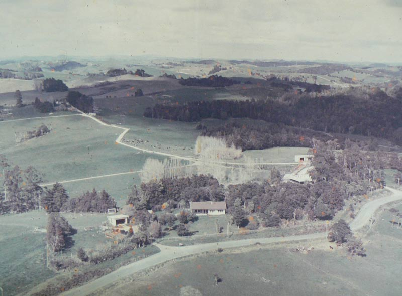 A historic image of the family farm
