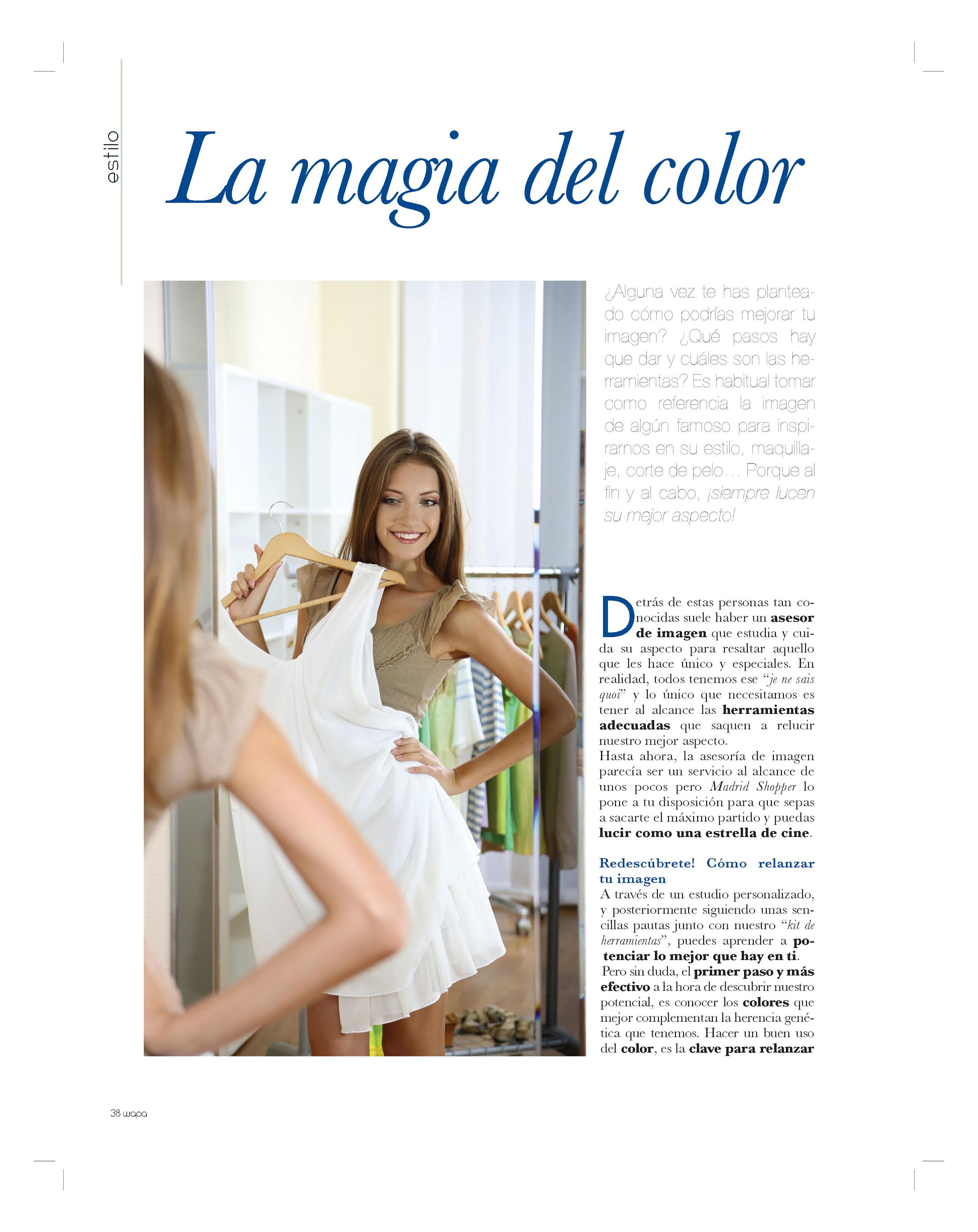 Wapa Magazine 48 – HOW TO BEAUTIFY YOUR IMAGE THROUGH THE MOST POWERFULL TOOL: THE COLOR   (spring 2015)