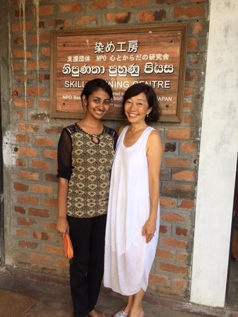 ここの先生 Lakshani Niwanthikaさん 彼女の日本語もとても綺麗