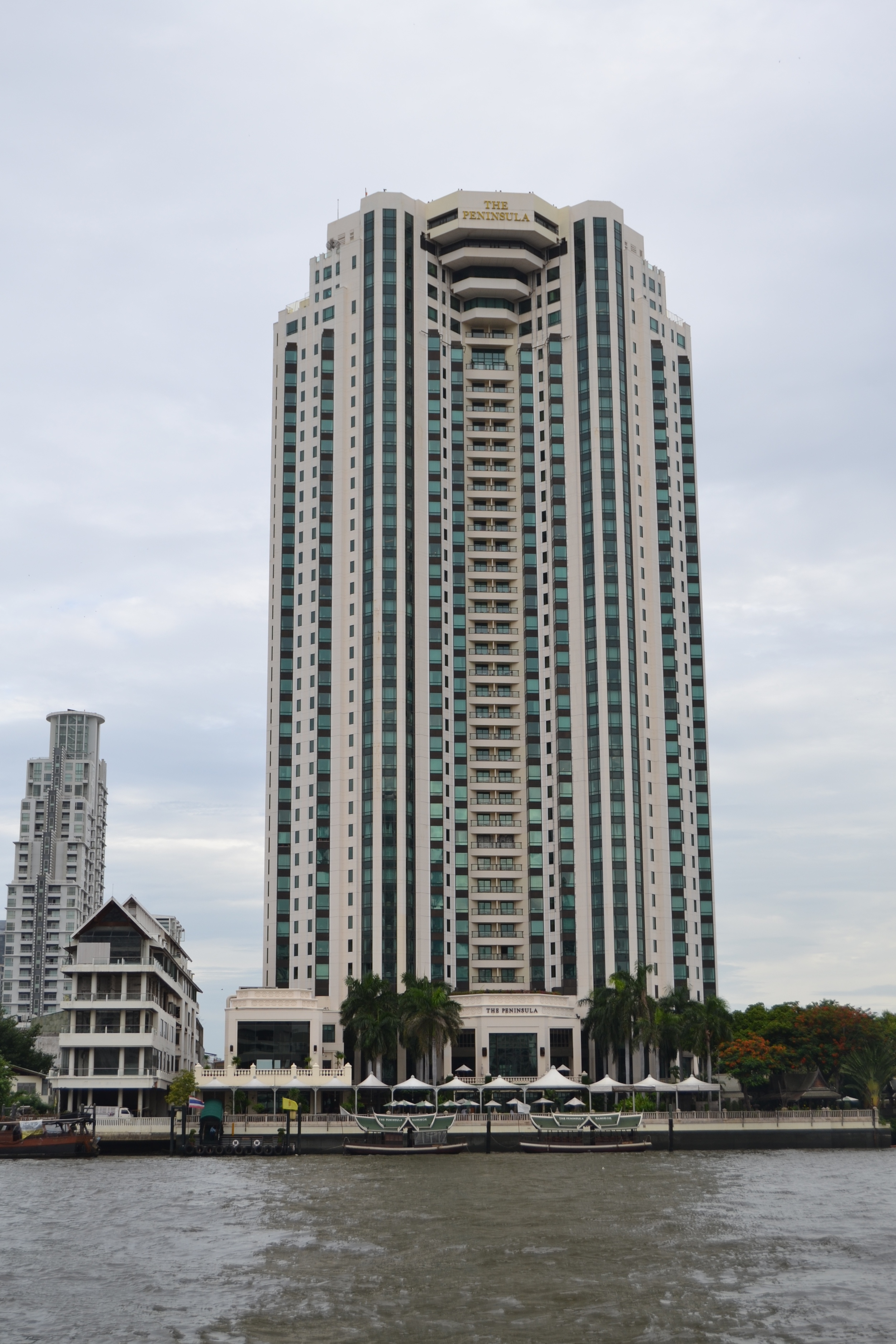 View of our hotel from the river