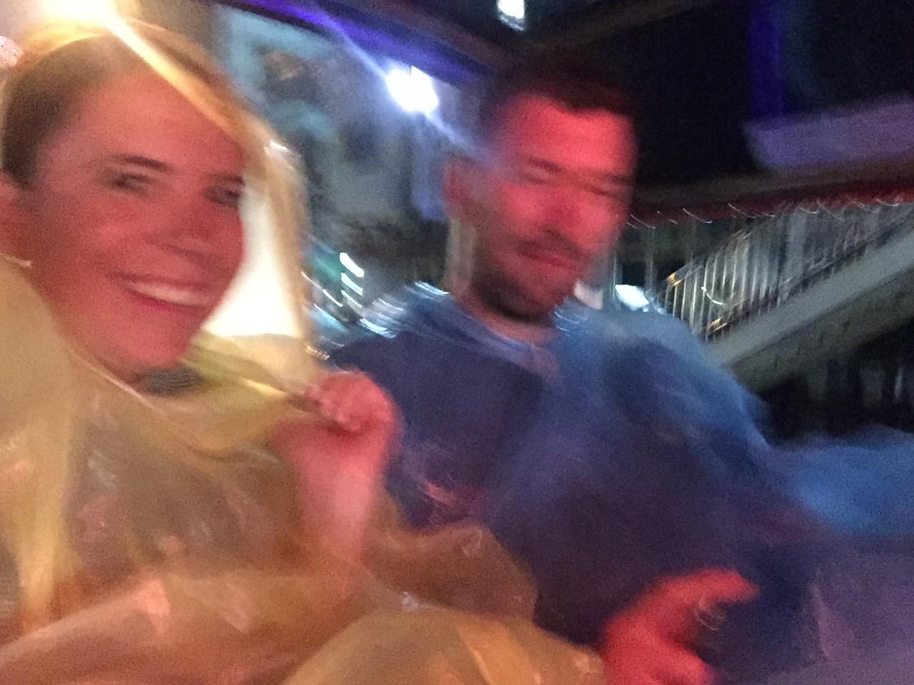 Pouring rain on our food tour tuk tuk