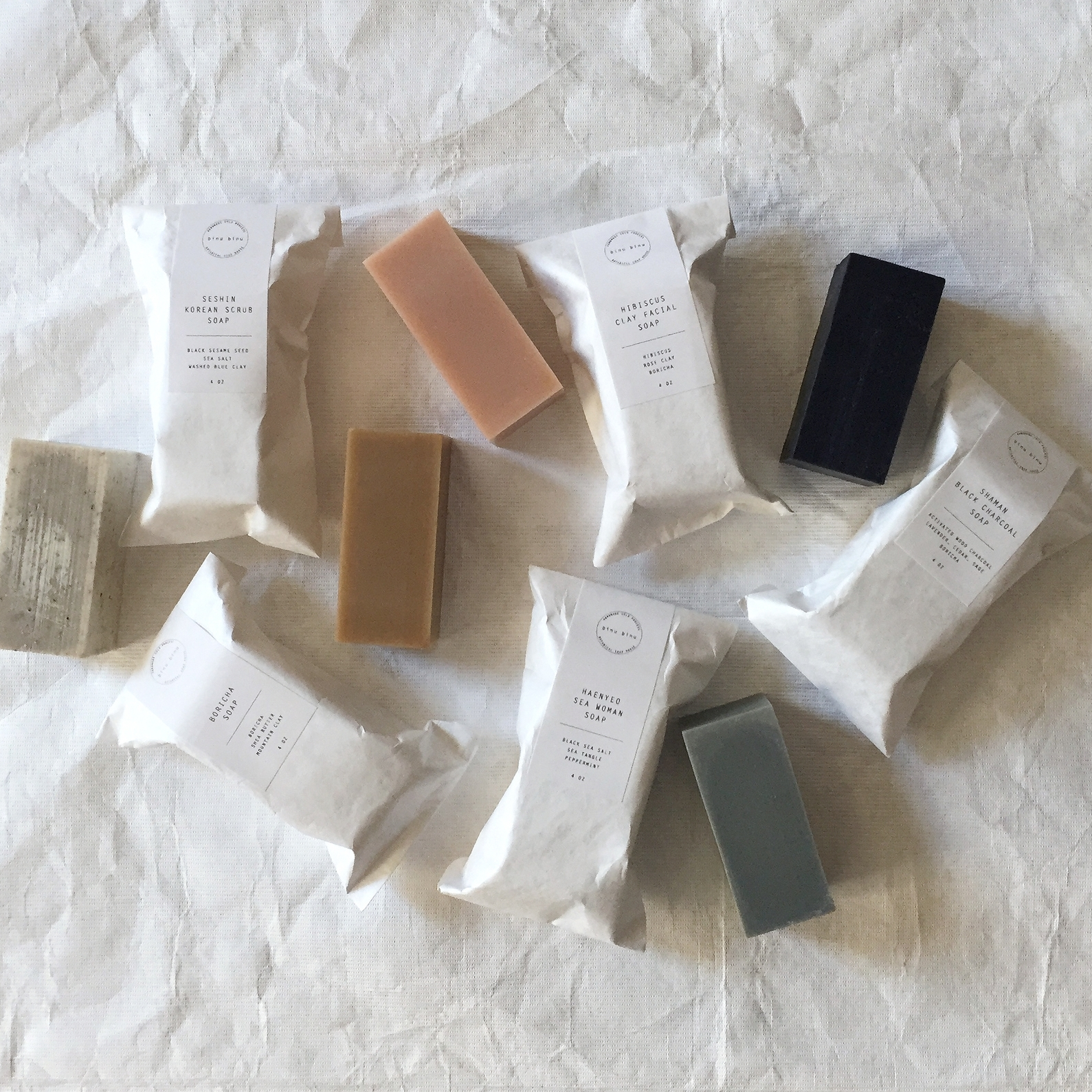 BINU BINU SOAP  : $18-$20   PERFECT FOR : People who wash their faces and/or bodies. All-natural, fragrance-free soaps made with essential oils.   Binu Binu