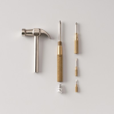 COMBINATION TOOL  : $22   PERFECT FOR : People who have walls in their home. Made with tempered steel and solid brass.   Schoolhouse Electric & Supply Co.