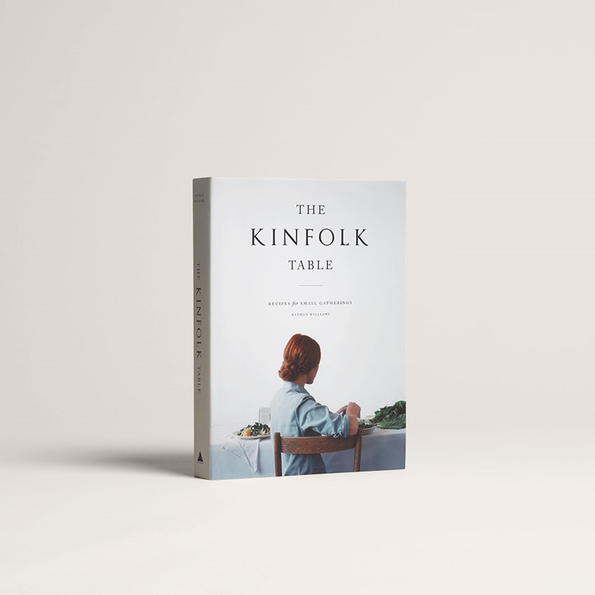 K     INFOLK TABLE COOKBOOK  : $35   PERFECT FOR : People who like nice things and good food. Filled with 85 recipes, incredible photos, and stories.   Kinfolk