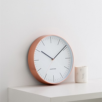 COPPER BODE CLOCK  : $70   PERFECT FOR : People who exist in linear time. It's minimalist, copper, and what else do you need, really?   Country Road