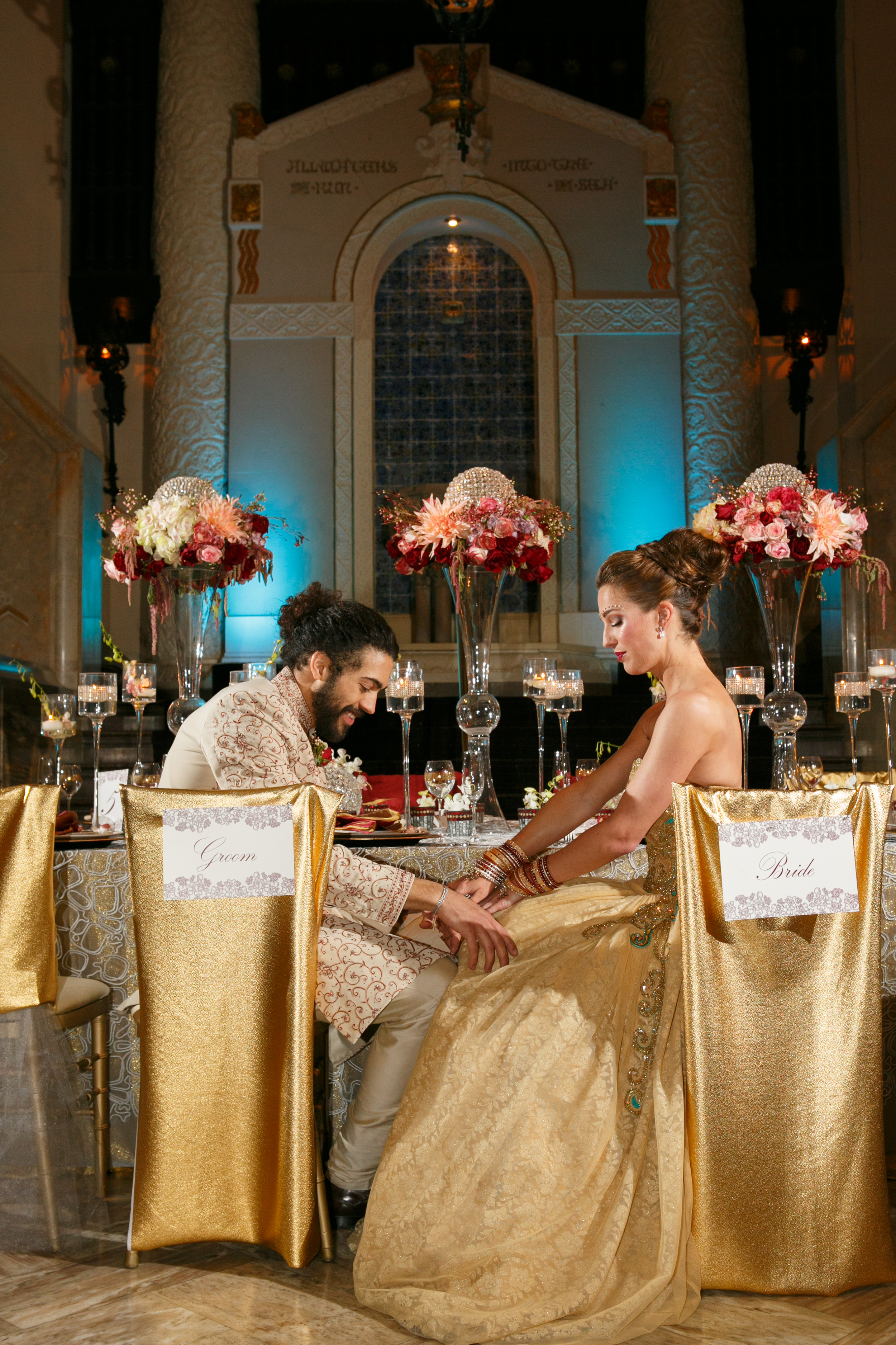 Marsala and Copper Wedding Decor   Navjot Design   Couture Wedding Designer and Florist in Dallas   SYPhotography