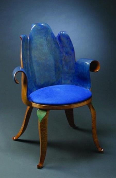 Tulip Inspired Chair Designed by Artist Eric Freyer