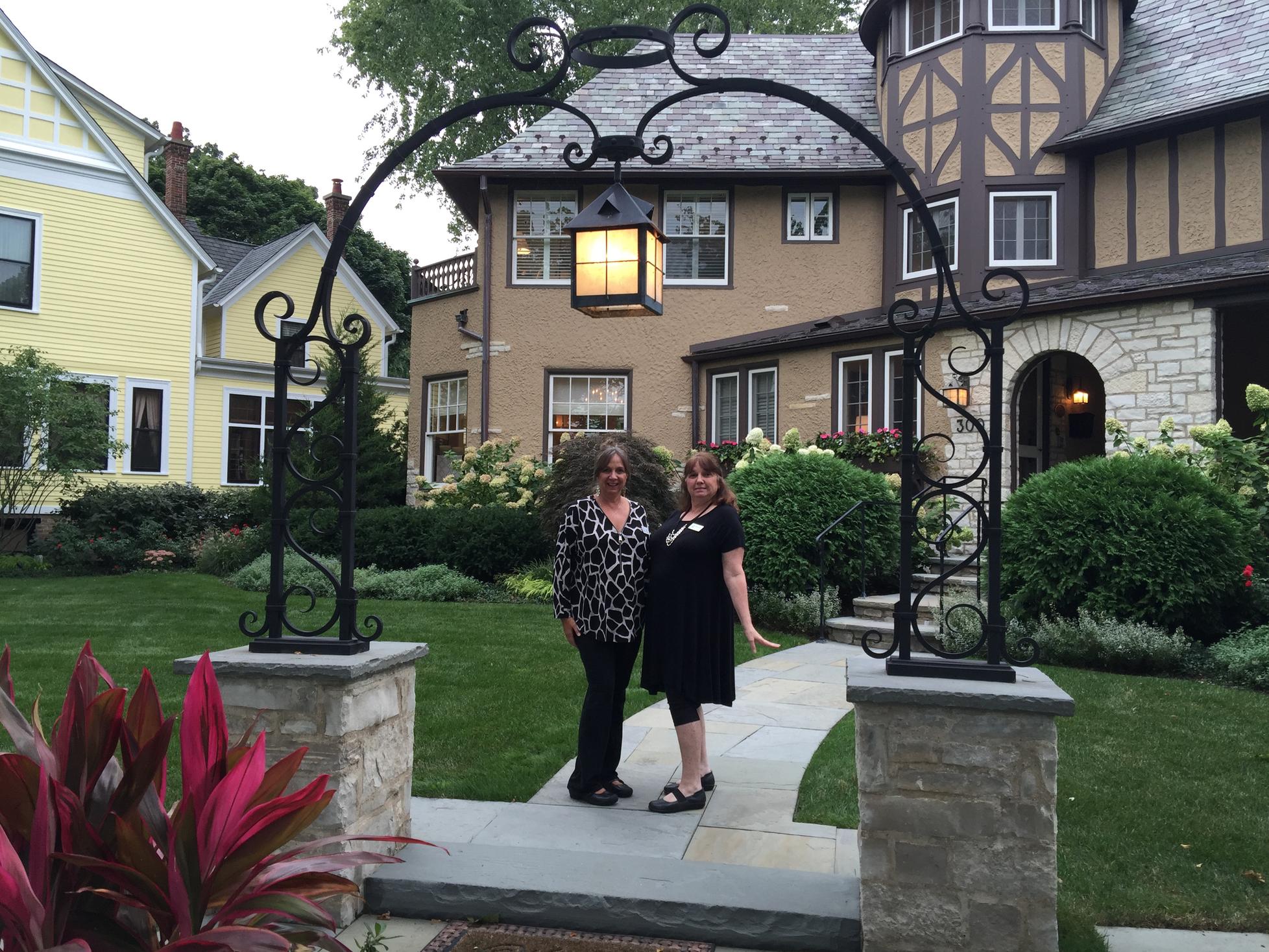 Sharon Minick & Lisa Boyd with Luxury Stone Porch