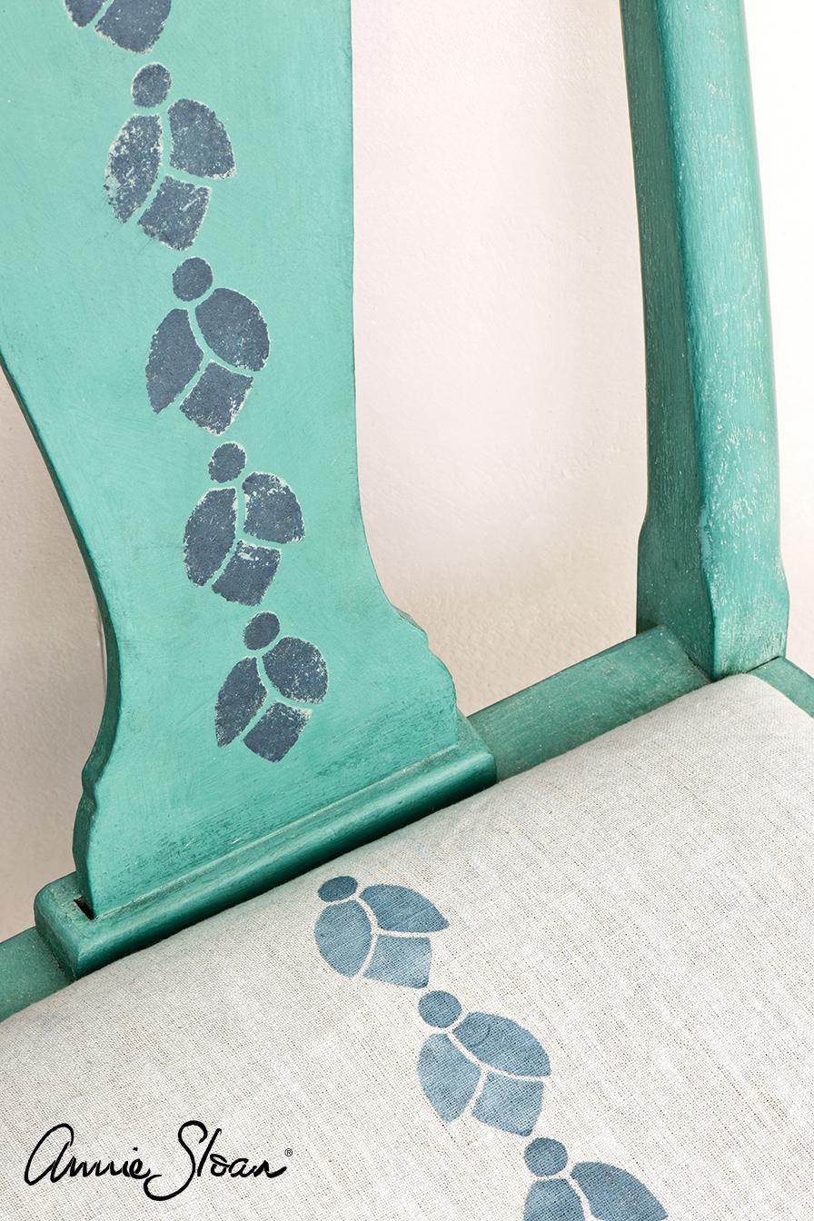 Bell Flowers, Aubusson Blue, Provence chair back.jpg